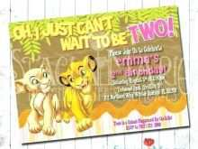 74 Online Lion King Birthday Invitation Template Free Layouts by Lion King Birthday Invitation Template Free