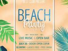 74 Printable Beach Party Invitation Template in Word by Beach Party Invitation Template