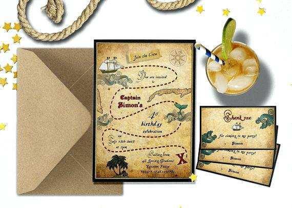 74 Printable Blank Pirate Invitation Template Templates by Blank Pirate Invitation Template