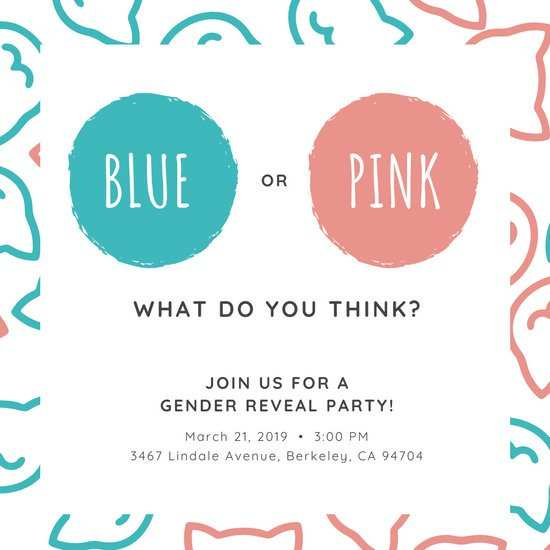 75 Format Blank Gender Reveal Invitation Template With Stunning Design for Blank Gender Reveal Invitation Template