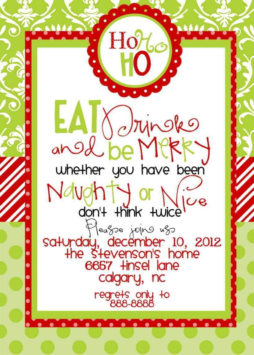 75 Format Christmas Dinner Invitation Examples Photo with Christmas Dinner Invitation Examples