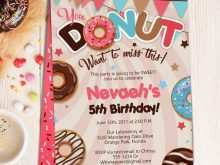 75 Online Donut Birthday Invitation Template PSD File with Donut Birthday Invitation Template