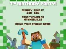 77 Creating Minecraft Party Invitation Template Now for Minecraft Party Invitation Template