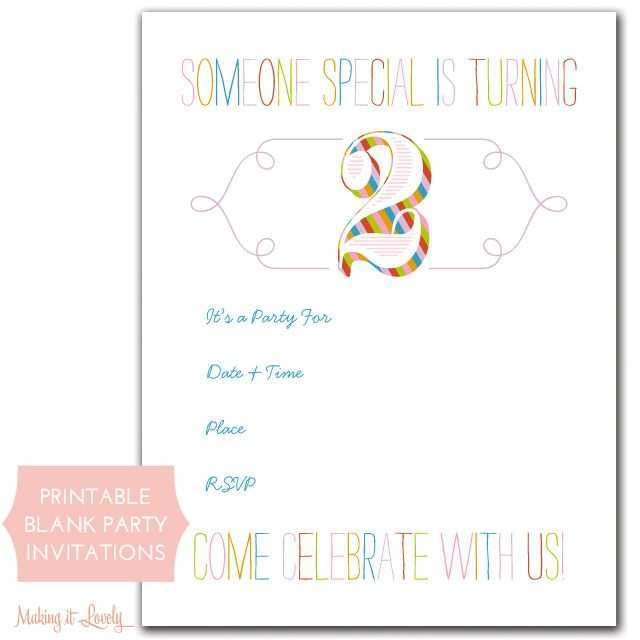77 Creative Blank Invitation Template Ks1 For Ms Word By