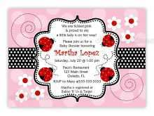 77 Free Blank Ladybug Invitation Template Templates by Blank Ladybug Invitation Template