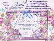 77 Printable Blank Tea Party Invitation Template With Stunning Design by Blank Tea Party Invitation Template