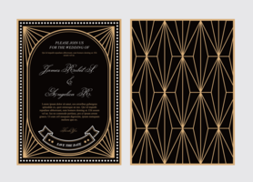 78 Creating Gatsby Wedding Invitation Template Free for Ms Word by Gatsby Wedding Invitation Template Free