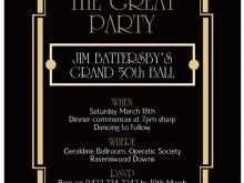 78 Customize Blank Great Gatsby Invitation Template For Free by Blank Great Gatsby Invitation Template