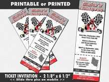 Go Karting Party Invitation Template Free
