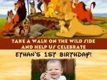 78 Online Lion King Birthday Invitation Template Free Maker for Lion King Birthday Invitation Template Free
