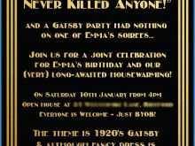 78 Printable Blank Great Gatsby Invitation Template for Ms Word by Blank Great Gatsby Invitation Template