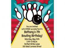 78 Printable Bowling Party Invitation Template For Free with Bowling Party Invitation Template