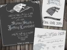 Game Of Thrones Birthday Invitation Template