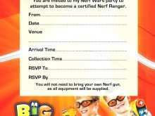 79 Report Free Nerf Birthday Party Invitation Template Formating for Free Nerf Birthday Party Invitation Template