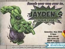 Hulk Birthday Invitation Template