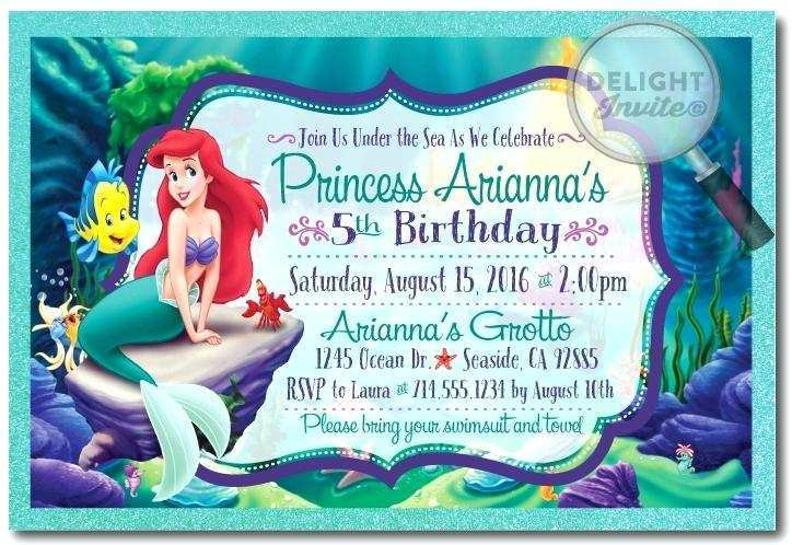 79 Standard Ariel Birthday Invitation Template in Photoshop for Ariel Birthday Invitation Template