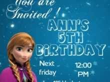 79 Standard Frozen Birthday Invitation Blank Template Download with Frozen Birthday Invitation Blank Template