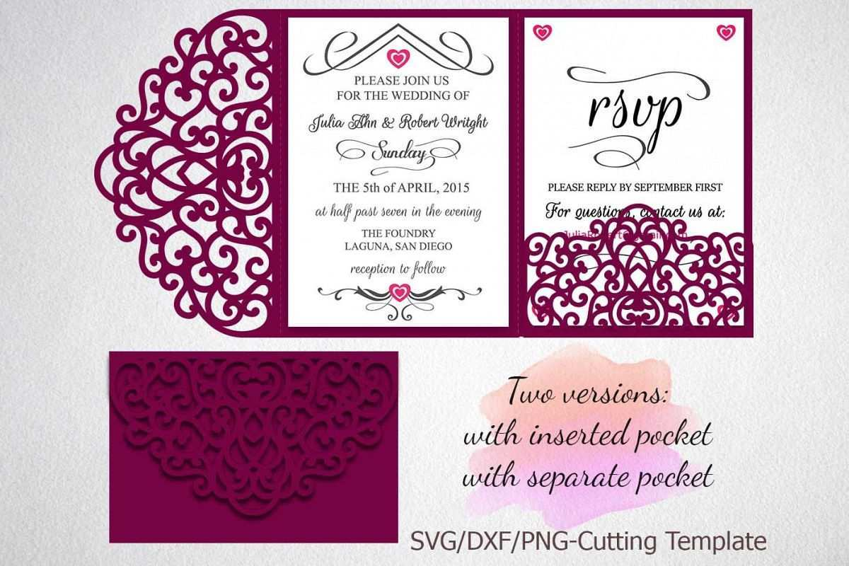4 The Best Two Fold Wedding Invitation Template Formating for Two