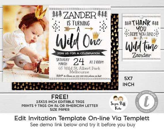 80 How To Create Wild One Birthday Invitation Template Free Layouts for Wild One Birthday Invitation Template Free