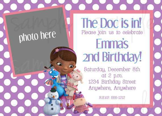 It's just a picture of Doc Mcstuffins Printable Invitations within editable invitation