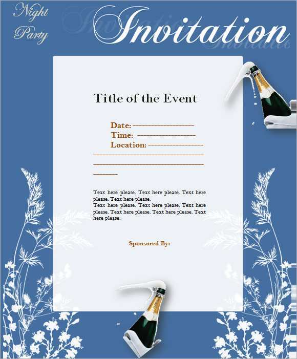 83 Create Formal Invitation To An Event Template For Free for Formal Invitation To An Event Template