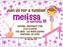 83 Creative Birthday Invitation Templates Gymnastics Photo for Birthday Invitation Templates Gymnastics