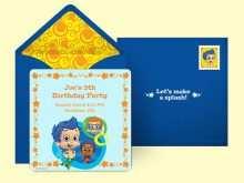 84 Creative Blank Bubble Guppies Invitation Template Download with Blank Bubble Guppies Invitation Template