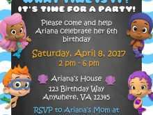 84 Customize Our Free Blank Bubble Guppies Invitation Template Now with Blank Bubble Guppies Invitation Template