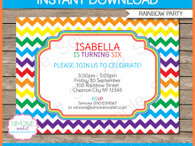 84 Customize Rainbow Party Invitation Template Formating for Rainbow Party Invitation Template