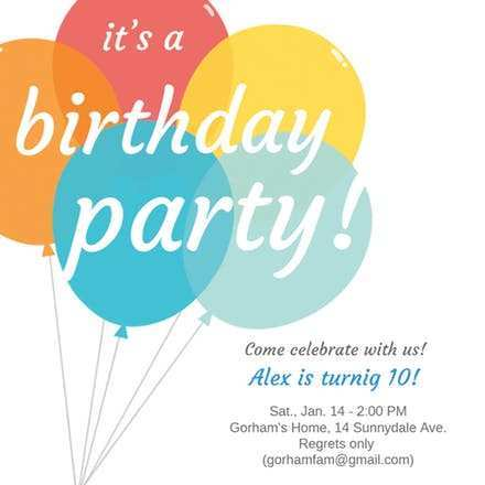 Printable Birthday Invitation Reminder