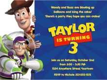 85 Adding Toy Story Birthday Invitation Template With Stunning Design for Toy Story Birthday Invitation Template