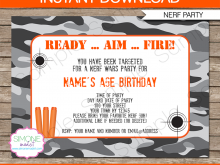 85 Format Free Nerf Birthday Party Invitation Template For Free with Free Nerf Birthday Party Invitation Template