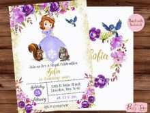 86 Creating Sofia The First Invitation Blank Template for Ms Word for Sofia The First Invitation Blank Template