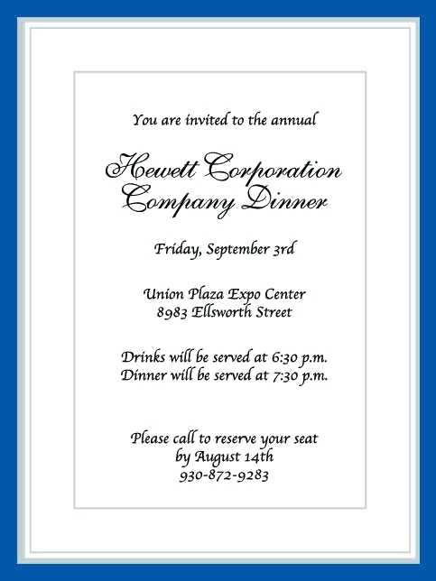 86 Customize Business Dinner Invitation Sample Email PSD File for Business Dinner Invitation Sample Email