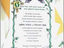 Hebrew English Wedding Invitation Template