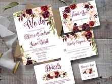 87 Adding Marsala Wedding Invitation Template Formating by Marsala Wedding Invitation Template