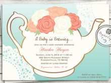87 Creative Blank Tea Party Invitation Template for Ms Word for Blank Tea Party Invitation Template