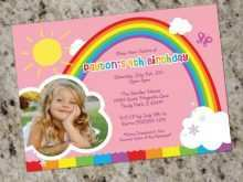 87 Format Rainbow Party Invitation Template Layouts for Rainbow Party Invitation Template