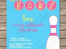 87 Free Bowling Party Invitation Template With Stunning Design by Bowling Party Invitation Template