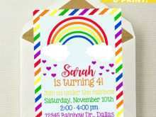 87 How To Create Rainbow Party Invitation Template in Photoshop with Rainbow Party Invitation Template