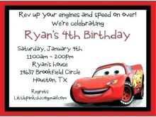 88 Create Birthday Invitation Template Cars Now by Birthday Invitation Template Cars