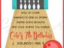 88 Format Birthday Party Invitation Template Bowling Layouts for Birthday Party Invitation Template Bowling