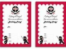 88 Printable Ninja Party Invitation Template Free Now for Ninja Party Invitation Template Free