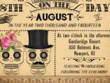 Day Of The Dead Party Invitation Template