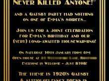 89 Creative Gatsby Wedding Invitation Template Free in Word with Gatsby Wedding Invitation Template Free