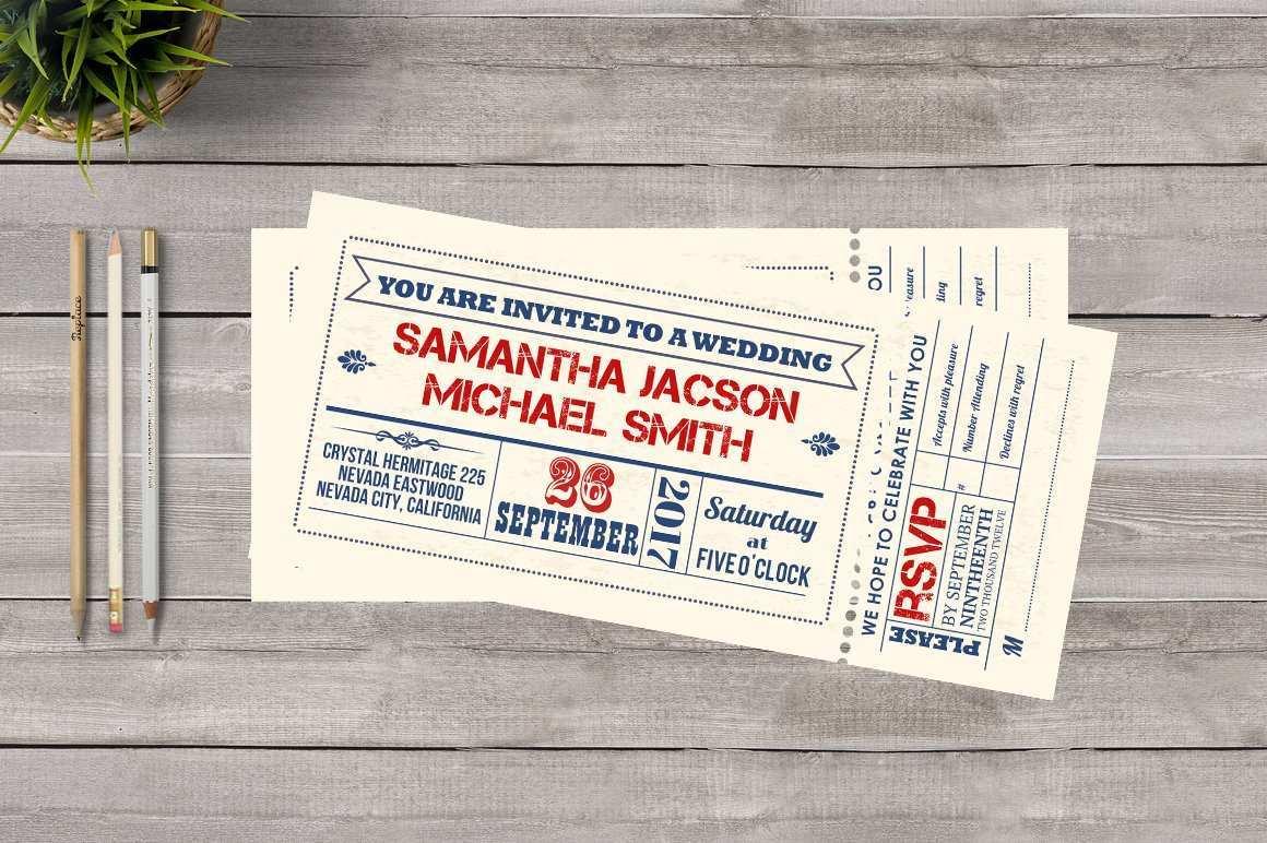 89 Online Wedding Invitation Template Ticket Download by Wedding Invitation Template Ticket
