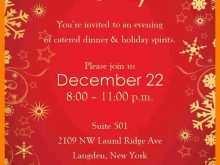 89 Report Christmas Dinner Invitation Template Word For Free for Christmas Dinner Invitation Template Word