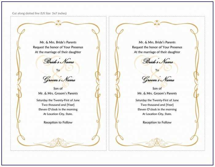 89 Standard Formal Invitation Template Microsoft Word Photo for Formal Invitation Template Microsoft Word