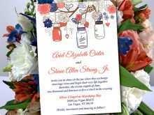 89 Standard Wedding Invitation Template Mason Jar Photo with Wedding Invitation Template Mason Jar