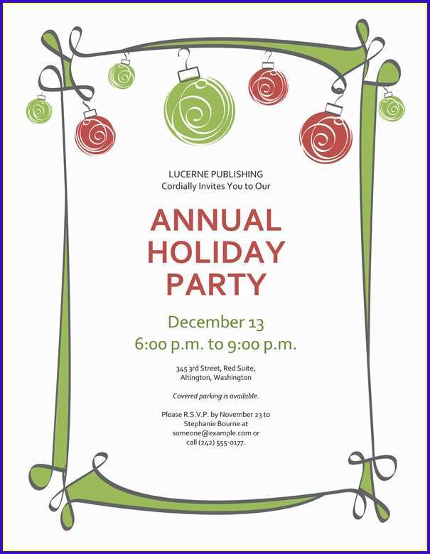 90 Customize Christmas Party Invitation Template Online Layouts with Christmas Party Invitation Template Online